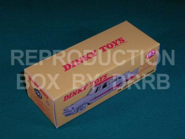 Dinky #192 De Soto Fireflite - Reproduction Box ( Grey with a Red roof and flash )